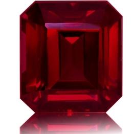 Rhodolite Garnet,Emerald Cut 8.10-Carat