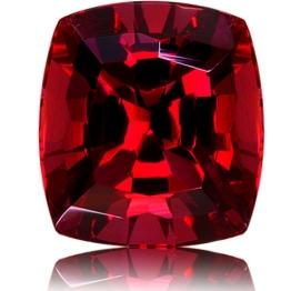 Rhodolite Garnet,Cushion 3.92-Carat