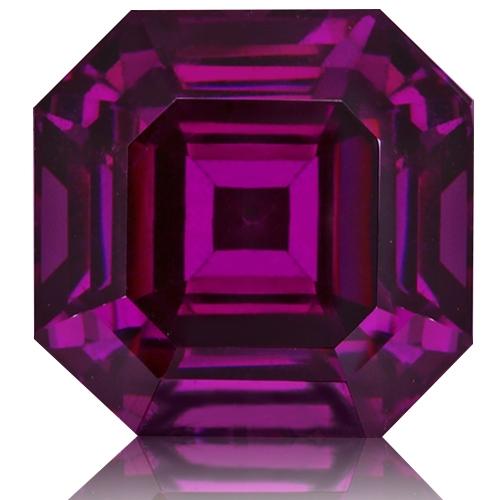 Royal Purple Garnet,Emerald Cut 6.28-Carat