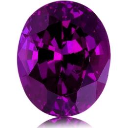 Royal Purple Garnet,Oval 6.78-Carat