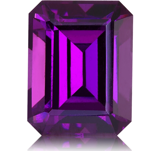 Royal Purple Garnet,Emerald Cut 2.94-Carat