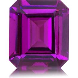 Royal Purple Garnet,Emerald Cut 2.61-Carat