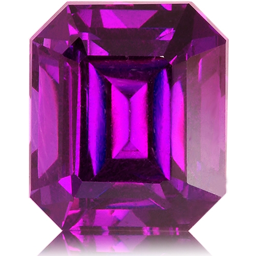 Royal Purple Garnet,Emerald Cut 4.10-Carat
