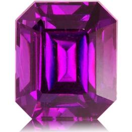 Royal Purple Garnet,Emerald Cut 4.10-Carat