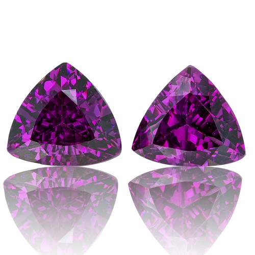 Royal Purple Garnet,Matched Pairs 5.27-Carat