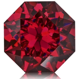 Rhodolite Garnet,Octagon 4.72-Carat