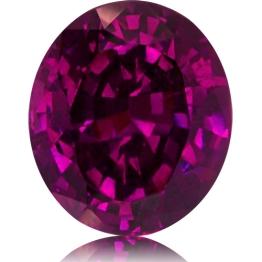 Royal Purple Garnet,Oval 3.82-Carat