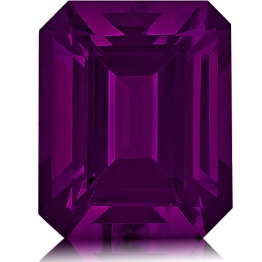 Royal Purple Garnet,Emerald Cut 2.38-Carat