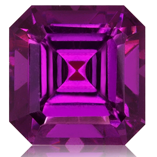 Royal Purple Garnet,Emerald Cut 3.04-Carat