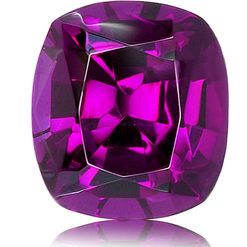 Royal Purple Garnet,Cushion 2.83-Carat