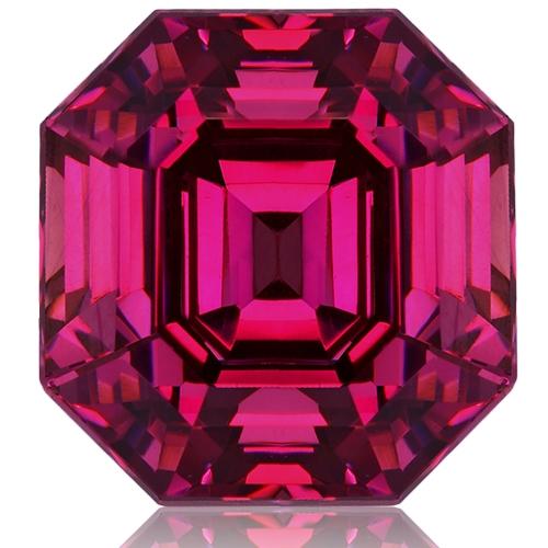 Rhodolite Garnet,Emerald Cut 6.09-Carat
