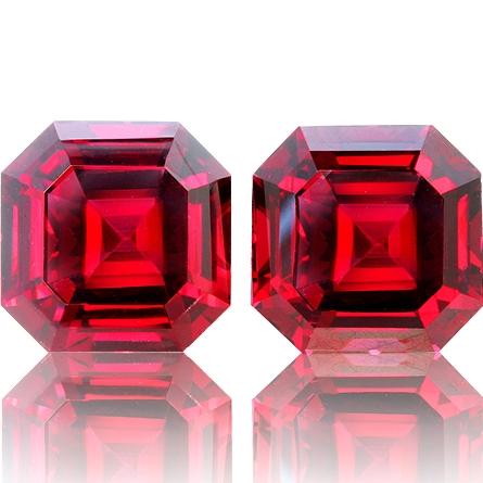 Rhodolite Garnet,Matched Pairs 23.26-Carat
