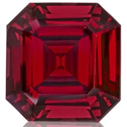 Rhodolite Garnet,Emerald Cut 20.35-Carat