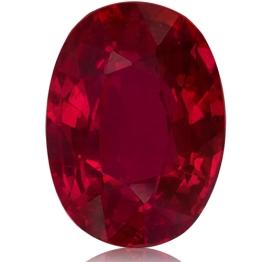 Ruby,Oval 2.04-Carat