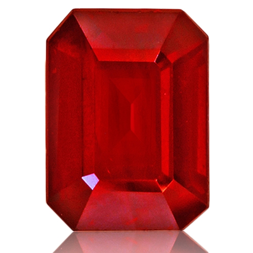 Ruby,Emerald Cut 1.62-Carat
