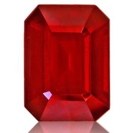 Ruby,Emerald Cut 1.62-Carat