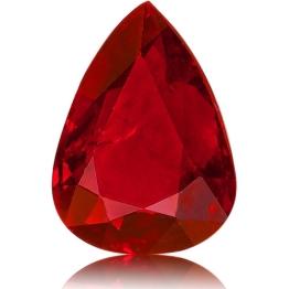 Ruby,Pear 1.60-Carat