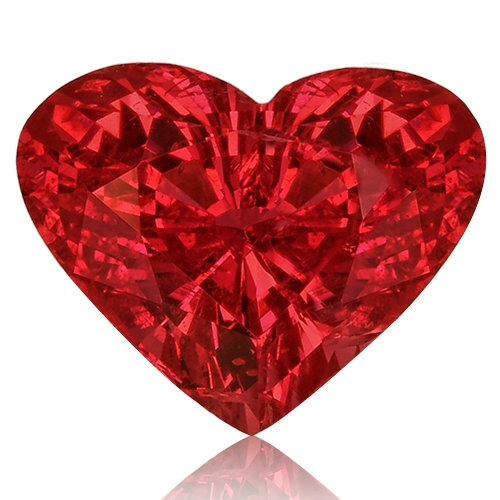 Spinel,Heart 2.02-Carat