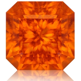 Spessartite Mandarin Garnet,Radiant 5.83-Carat
