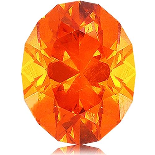 Spessartite Mandarin Garnet,Oval 3.02-Carat
