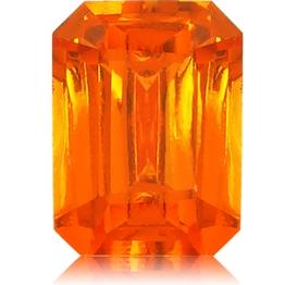 Spessartite Mandarin Garnet,Emerald Cut 2.75-Carat