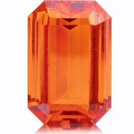 Spessartite Mandarin Garnet,Emerald Cut 3.69-Carat