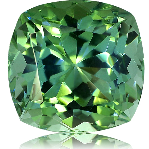 Tourmaline,Cushion 14.06-Carat