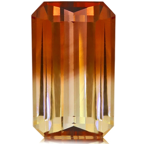 Tourmaline,Emerald Cut 7.68-Carat