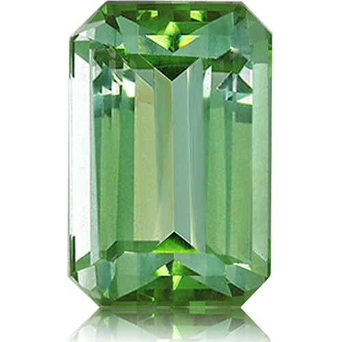 Tourmaline,Emerald Cut 3.66-Carat