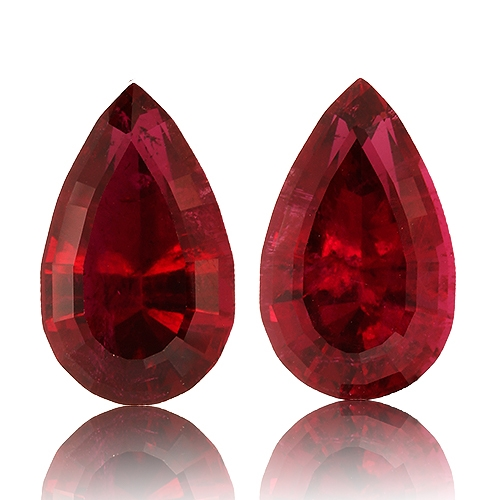 Tourmaline,Matched Pairs 13.80-Carat
