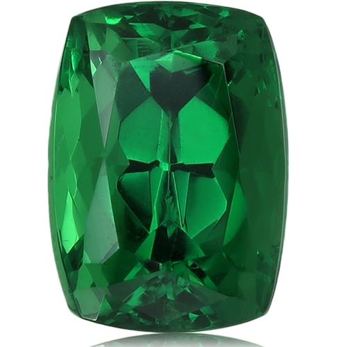 Tsavorite,Cushion 1.47-Carat