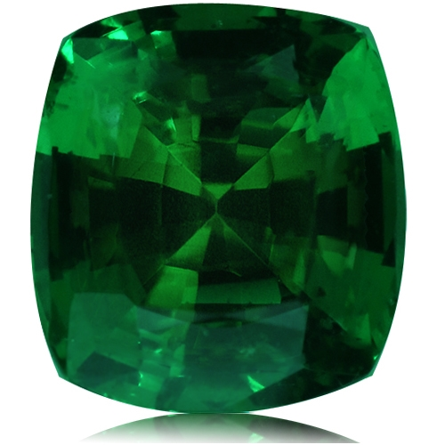 Tsavorite,Cushion 4.14-Carat