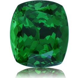 Tsavorite,Cushion 3.40-Carat