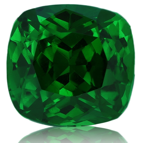 Tsavorite,Cushion 3.16-Carat