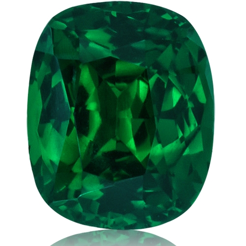 Tsavorite,Cushion 1.38-Carat