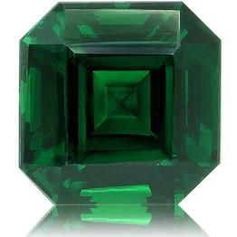 Tsavorite,Emerald Cut 3.43-Carat
