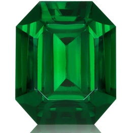 Tsavorite,Emerald Cut 2.42-Carat