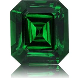Tsavorite,Emerald Cut 3.19-Carat