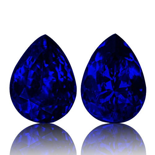 Tanzanite,Matched Pairs 7.31-Carat