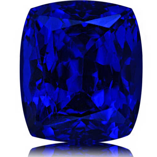 Tanzanite,Cushion 25.17-Carat