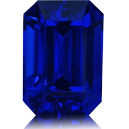 Tanzanite,Emerald Cut 7.55-Carat