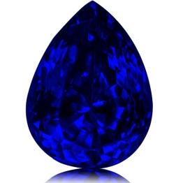 Tanzanite,Pear 1.74-Carat