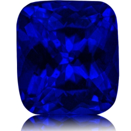 Tanzanite,Cushion 3.84-Carat