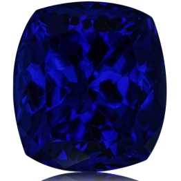 Tanzanite,Cushion 6.42-Carat