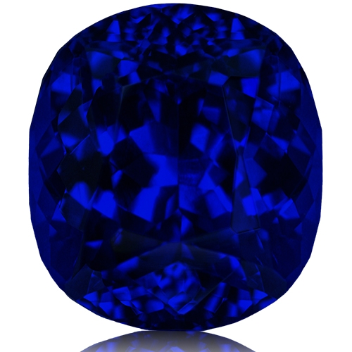 Tanzanite,Cushion 15.00-Carat