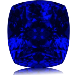 Tanzanite,Cushion 3.49-Carat