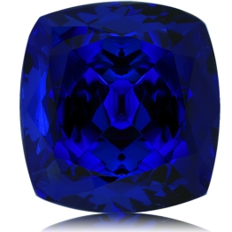 Tanzanite,Cushion 8.22-Carat