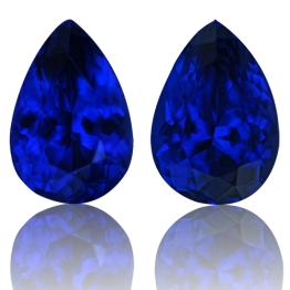 Tanzanite,Matched Pairs 2.95-Carat