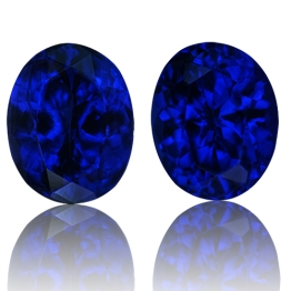 Tanzanite,Matched Pairs 4.33-Carat