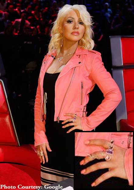 Christiana Aguilera Tourmaline Jewelry The Voice 2015.jpg